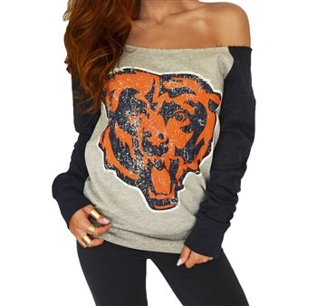 Yep. I'll have this now thank you! Chicago Bears Off Shoulder Sweatshirt | SportyThreads.com