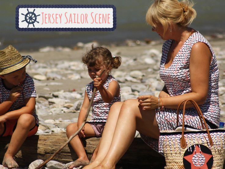 """Wundervolle Outfits inklusive passender Tasche! Die liebe Corina hat unseren Jersey """"Sailor Scene"""" traumhaft in Szene gesetzt ⚓️ #stickandstyle"""