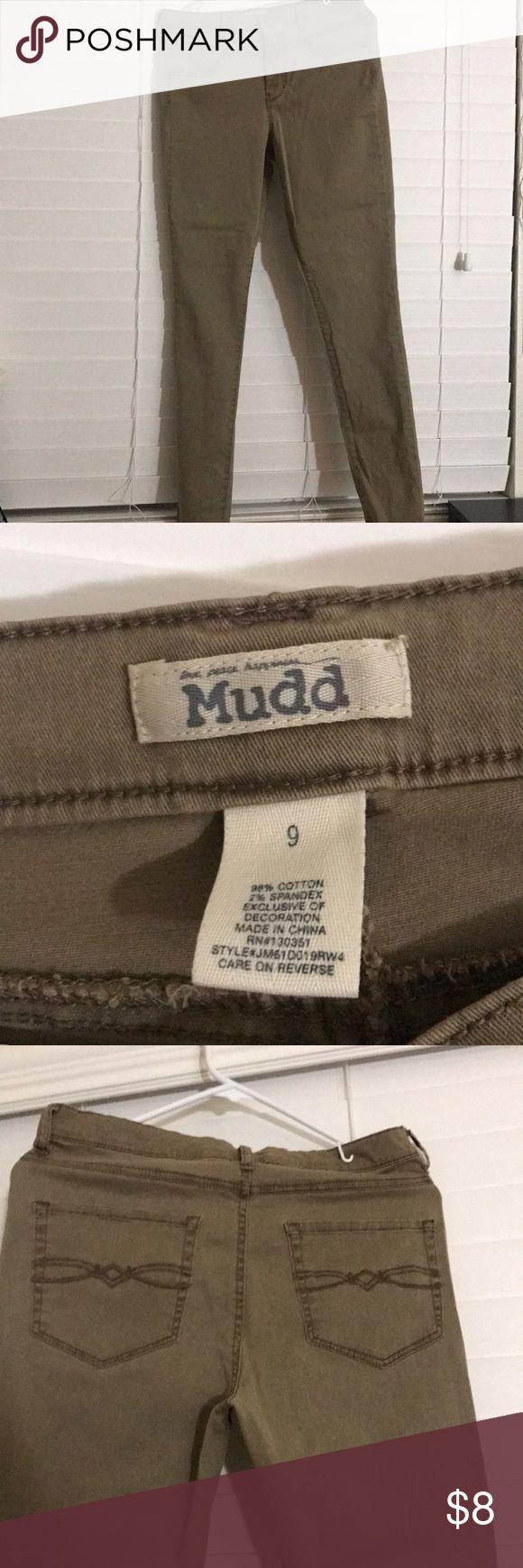 Pants mudd brand Mudd brand, juniors for teen size 9soft cotton with  spandex khaki jeans straight leg. Mudd Bottoms Jeans