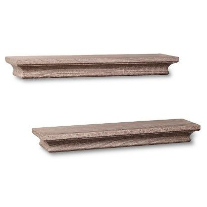 Threshold™ Set of 2 Traditional Shelves - Graywash (15.75