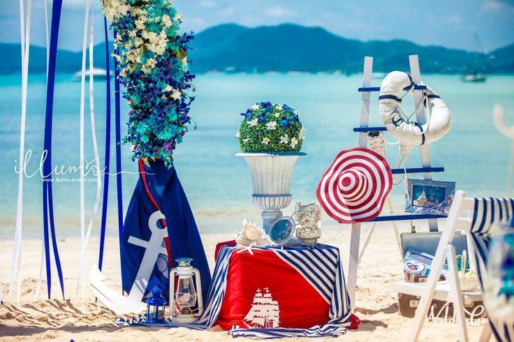 """Свадьба в стиле """"Мечты о море"""" на райском пляже Пхукета."""