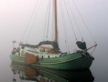 """1902 Dutch Sailing barge, believed to be """"Izrin Henry """""""