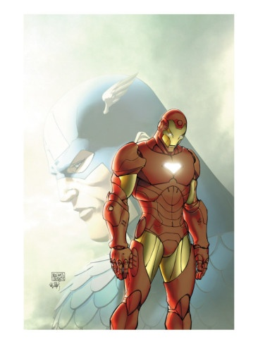 Fallen Son: The Death Of Captain America#5 Cover: Captain America and Iron Man Premium Poster
