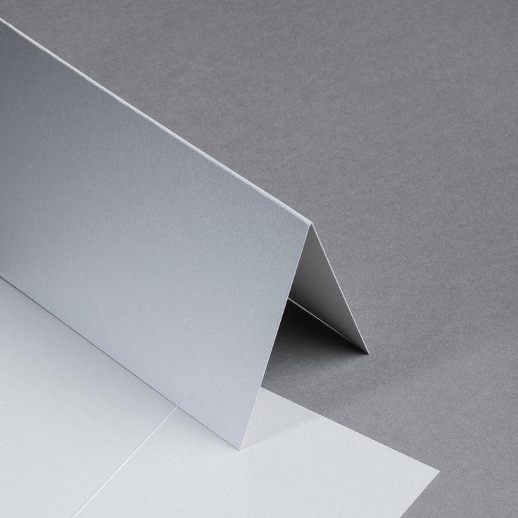 Metallics gebürstet Karten DIN lang hochdoppelt Antimon