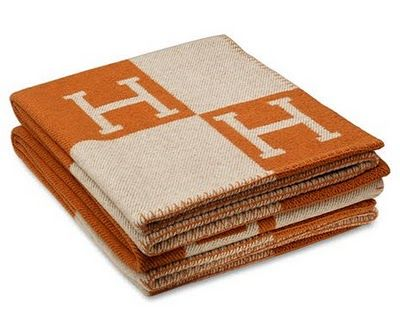 I need this Hermes blanket for somewhere, anywhere, everywhere in my house - is there any more perfect orange??