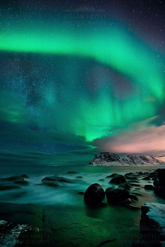 Aurora, Lofoten Islands, Norway  #holiday