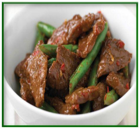 Stir-fried beef with hoisin sauce  http://www.ibssanoplus.com/low_fodmap_recipe_beef_hoisin.html