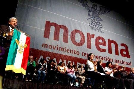 ] CD. MÉXICO * 19 de febrero. El Movimiento de Regeneración Nacional (Morena) no hará alianzas con partidos políticos para los comicios intermedios de 2015, cuando compita en su primera elección para convertirse en partido político.