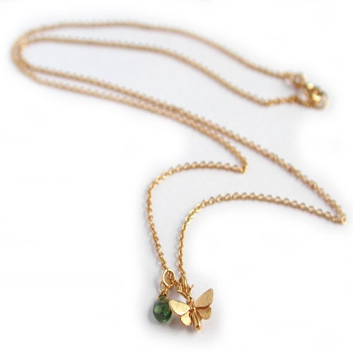 Butterfly necklace with small stone. Pretty. £108