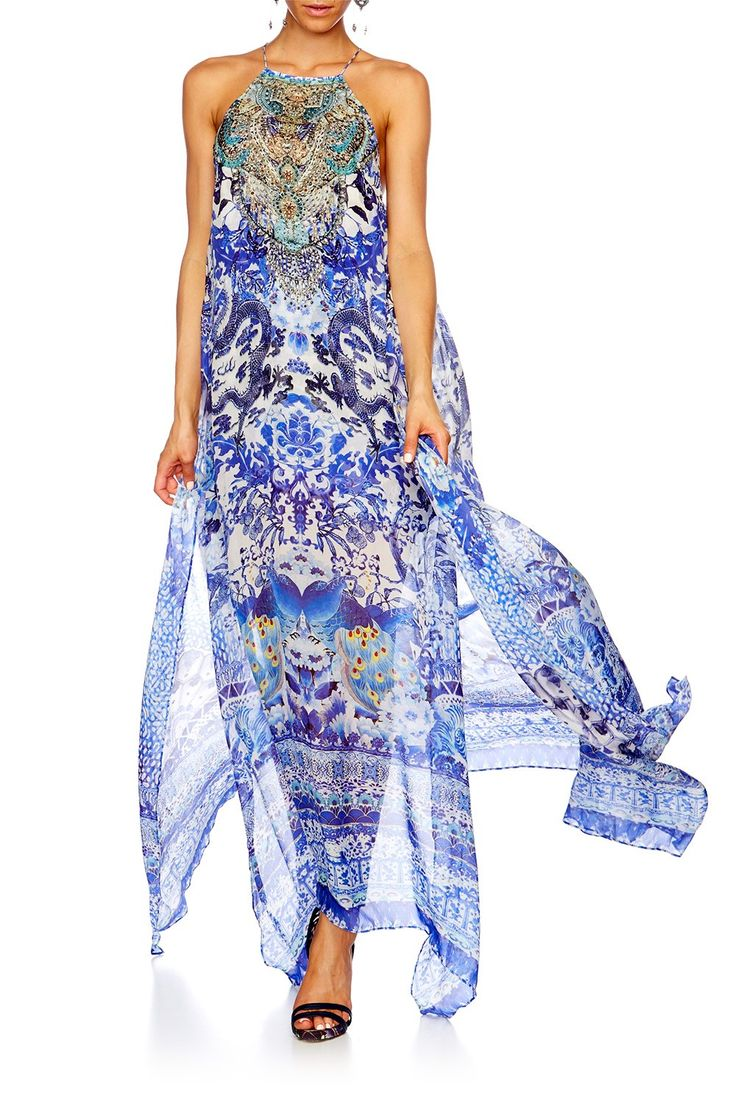 CAMILLA Guardian Of Secrets Long Sheer Overlay Dress