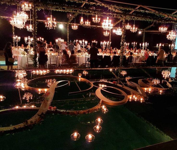 Floating Candles and Floating Love Words, overlooking to the magical reception area, a Luxury Bali Wedding