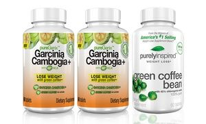Groupon - 2-Pack of Garcinia Cambogia with 60% HCA with Free Bottle of 60-Count Green Coffee Bean  in [missing {{location}} value]. Groupon deal price: $14.99