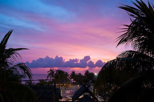 Sunset over Curacao.