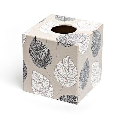 Silver Leaf Tissue Box from Crackpots Tissue boxes and Bins - lovingly hand decoupaged ♥
