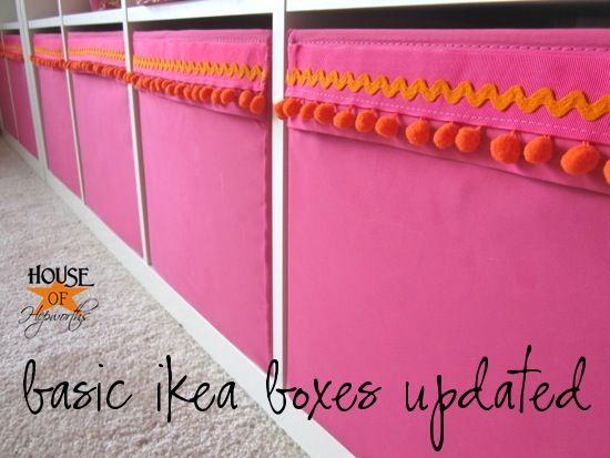 ikea hack tutorial!  Adding trim to ikea drona boxes for the expedit.  Super easy DIY @ houseofhepworths.com