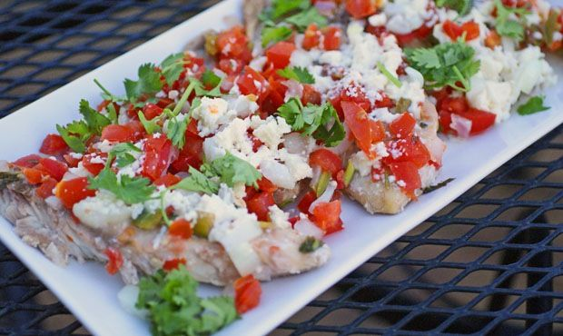 Fish veracruz recipe butter onions and salts for Fish veracruz recipe