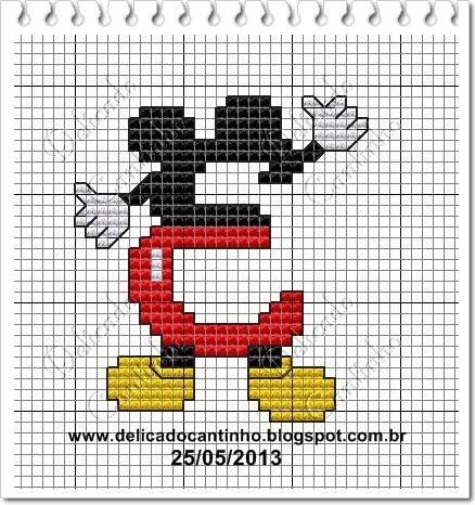 Delicado Cantinho: Monograma Mickey   E