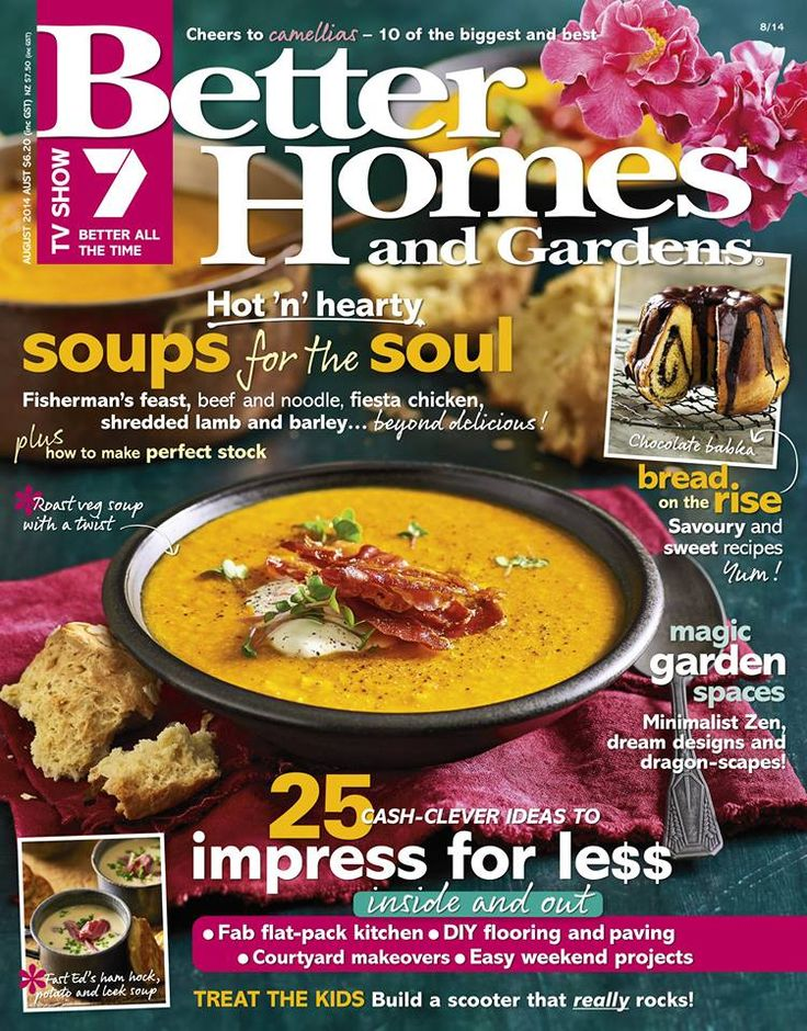 Better Homes & Gardens - August 2014 #magazines #magsmoveme http://au