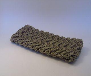 Chevron crochet headband