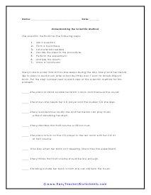 Scientific Method Worksheets   Scientific method worksheet ...