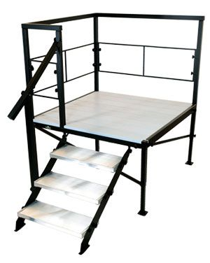 Portable RV Deck and Porch Systems for 5th Wheels, Motorhomes, and Campers   24 Series 3-Step
