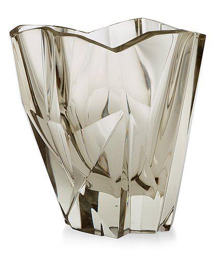 A Tapio Wirkkala 'Iceberg' glass vase, iittala, Finland, 1950's-60's, model 3825.