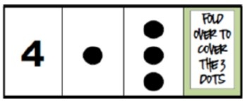 This set of cards is based on an activity by John Van de Walle. Students determine a covered missing part by using the whole and visible part.