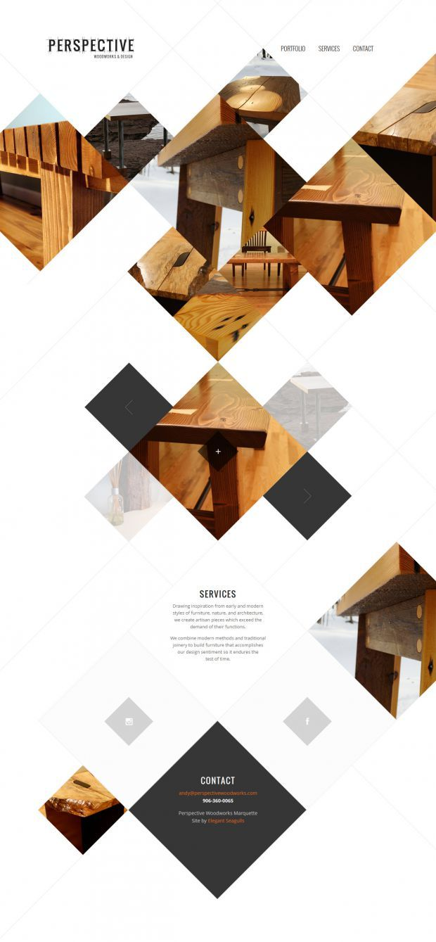 Perspective Woodworks and Design - Webdesign inspiration www.niceoneilike.com
