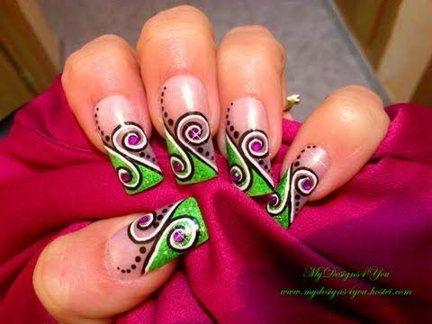 25+ beautiful Swirl nail art ideas on Pinterest | Beauty tips and mehndi  designs, Black and purple nails and Nail tutorials - 25+ Beautiful Swirl Nail Art Ideas On Pinterest Beauty Tips And