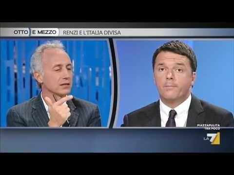 Confronto Renzi e Travaglio sul referendum costituzionale