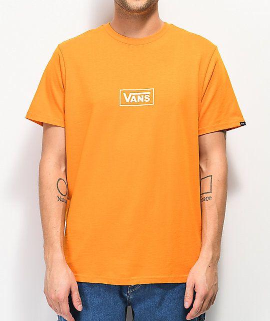 c7df4b5b Vans Side Orange T-Shirt in 2019 | ZUMIEZ | Orange t shirts, Orange ...