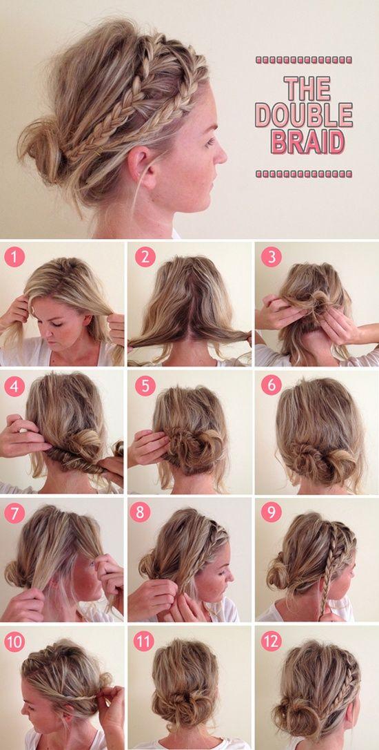 messy + braids + buns