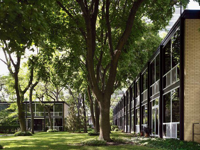 Mies van der Rohe, Lafayette Park, Detroit