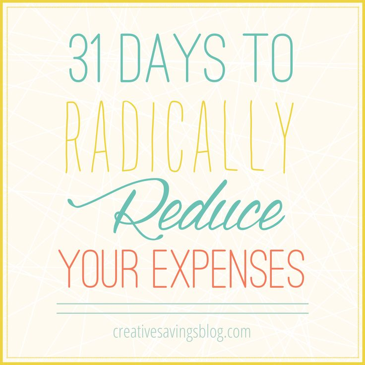 Posting now.Do everyday expenses quickly turn your budget into an out-of-control mess? You are not alone! 31 Days to Radically Reduce Your Expenses is a series specifically written to help you save more, and spend less each month. This is YOUR chance to finally reach those savings goals!