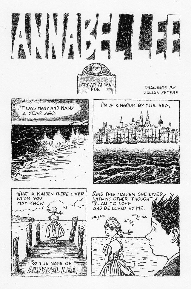 Annabel Lee by Edgar Allan Poe - Illustrated in Comic Form by Julian Peters