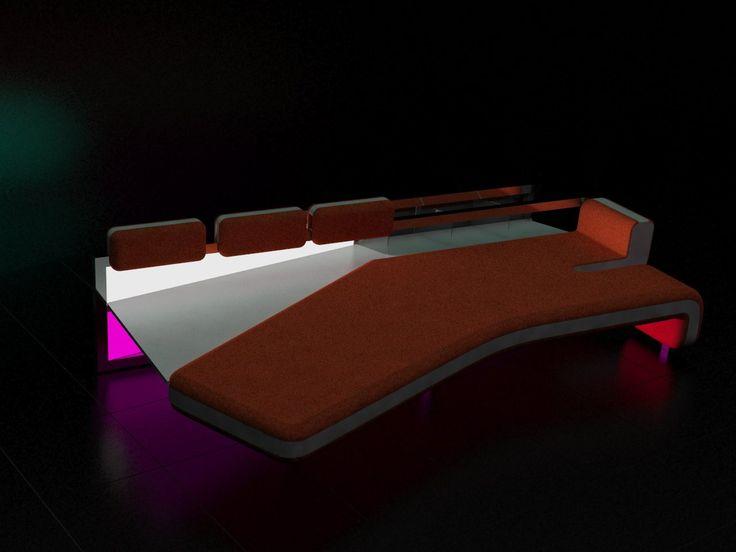 Seat with 3-zone lighting ilumé.
