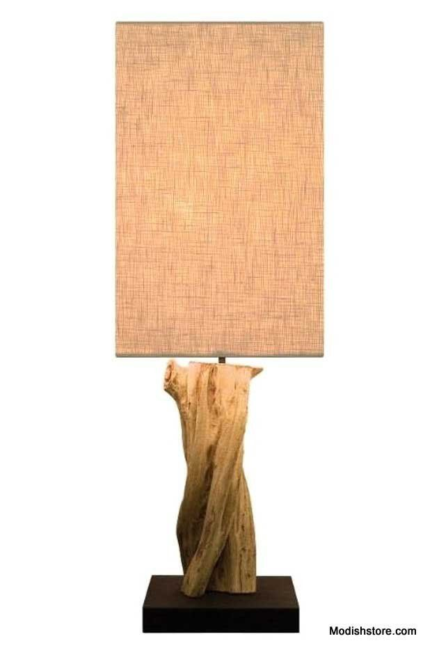 Reclaimed Driftwood Table Lamp Curve by Drift Home