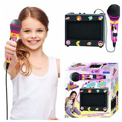 Si eres muy fan de Soy Luna, seguro que te gusta el karaoke portátil Soy Luna, un regalo ideal para Navidades y para hacer fiestas con amigas.