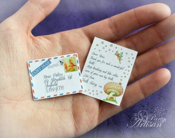 Tiny Tooth fairy letter. Canyon Ridge Pediatric Dentistry, Parker & Castle Rock, CO. www.canyonridgepediatricdentistry.com
