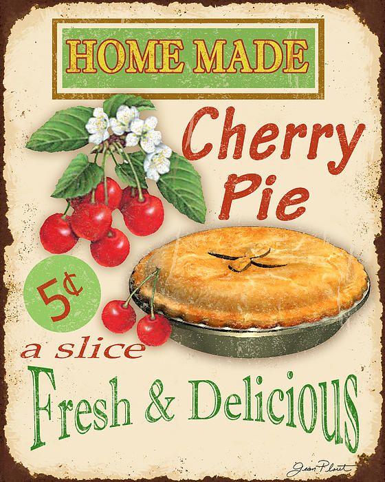 'Vintage Cherry Pie Sign'