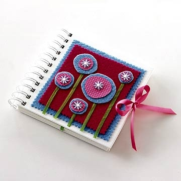 Decorated mini-notebook