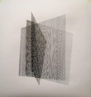 "Saatchi Art Artist Gyula Sági; Drawing, ""Op. 161. interferences serial"" #art"