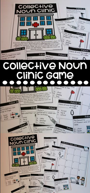 Collective Noun Games and Quiz! Love this collective noun clinic for a grammar themed classroom transformation! Great for literacy test prep too!