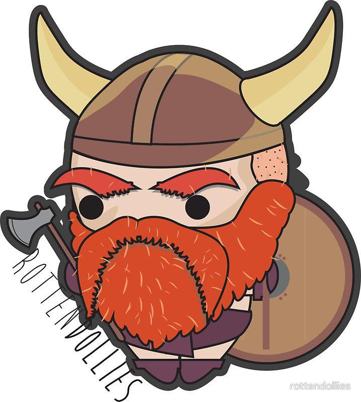 Rotten Dollies - Viking Sticker