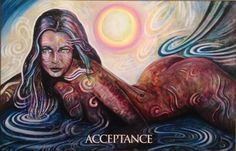 Acceptance, from the Magdalene Oracle Card deck, by Toni Carmine Salerno