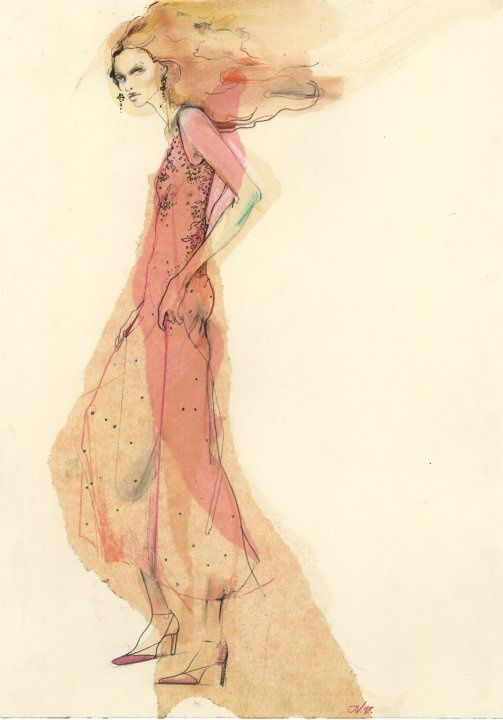 "maggienorriscouture: "" Maggie Norris Couture illustrated by Julie Verhoeven. Embroidery by Lesage Paris. """