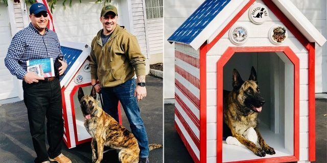 New Jersey Police Dog Army Vet Partner Accept Donated Patriotic