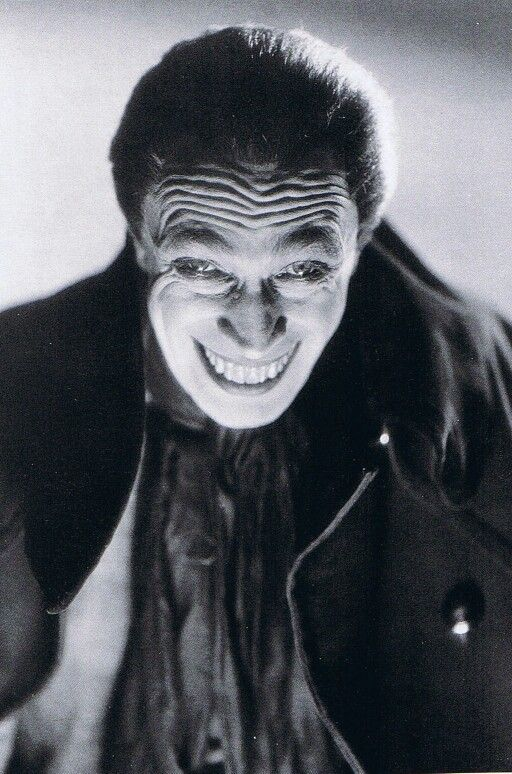"Conrad Veidt ""The Man Who Laughs"" 1928..... original inspiration for The Joker in Batman"