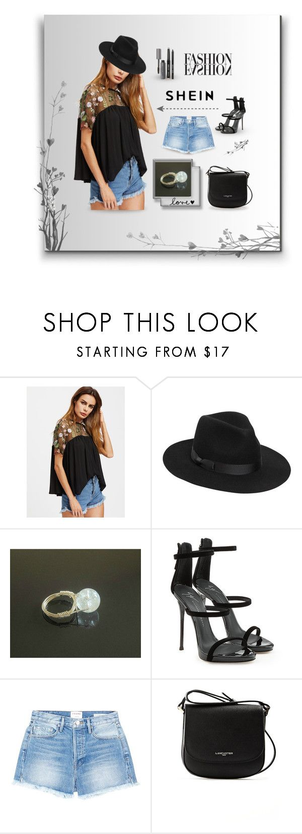 SheIn by styledonna on Polyvore featuring moda, Frame, Giuseppe Zanotti, Lancaster, Lack of Color and Bobbi Brown Cosmetics