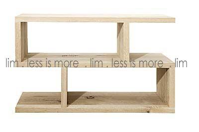 LIM 12SH/O - D1. 12SH/Oak low ''S'' shelf